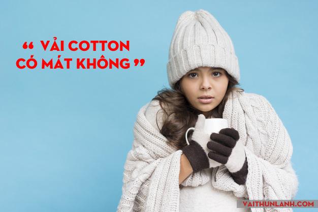 vải cotton có mát không